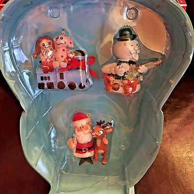 Rudolph Misfits The Red-Nosed Reindeer Case W/ 3 Figurines Mint 2003 Old Stock