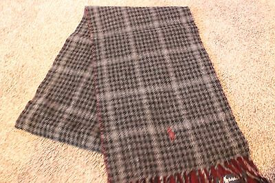 New Men's Polo Ralph Lauren Scarf Wool Reversable Made in Italy