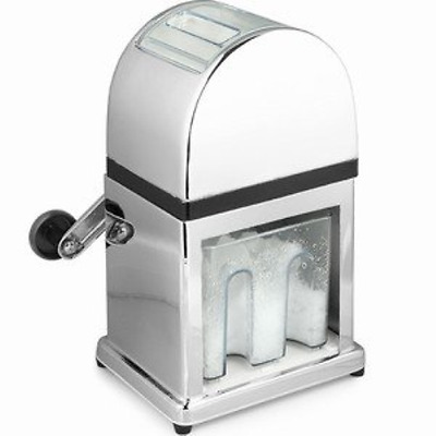 Manual Ice Crusher Machine with Tray and Ice Scoop
