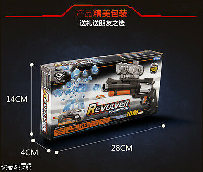 Revolver pistol pump action water bullet toy gun Crystal bullets