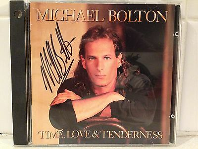 Michael Bolton Time Love & Tenderness CD, SIGNED