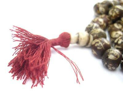 Patterned Conch Shell Mala Beads 10mm Nepal Brown Round Large Hole