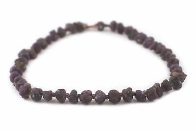 Genuine Ruby Stone Beads 12mm Afghanistan Purple Nugget Large Hole
