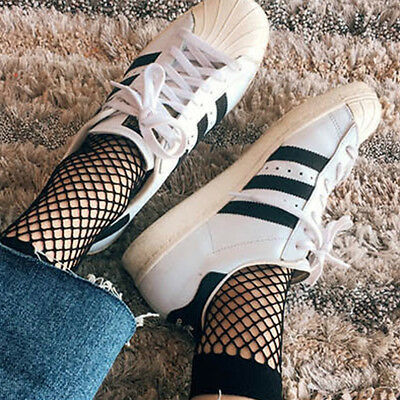 Fashion Ruffle Fishnet Ankle High Sock Lady Lace Mesh Fish Net Short Socks
