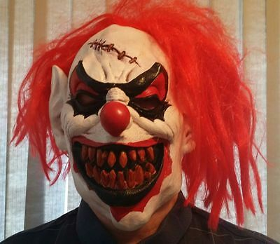 Scary Clown Latex Halloween Mask good condition