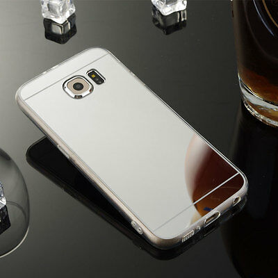 Luxury Thin Silicone TPU Mirror Case Cover Skin For Samsung Galaxy Note 4 Silver