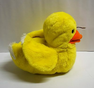 "Vintage Plush DINA DAKIN Hand Puppet Plush Yellow Sitting Duck 8"" 1983"