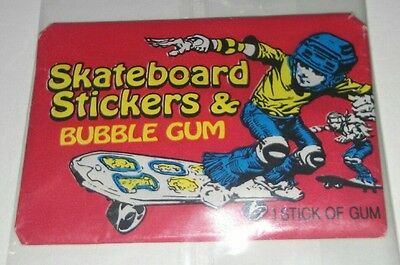1976 Donruss Skateboard Stickers (1) Unopened Wax Pack 41 years Old
