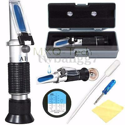 Portable Glycol Car Battery Refractometer Antifreeze Tester Fluid Ethylene ATC