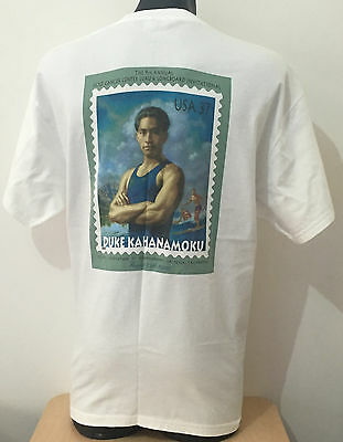 DUKE KAHANAMOKU STAMP SPECIALITY EVENT LIMITED PRINT T-SHIRT Longboard Surfing