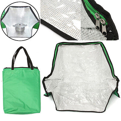 Green Portable Solar Oven Bag Cooker Sun Cooking for Outdoor Camping Travel New