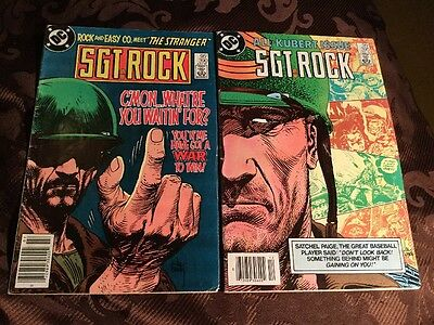 Lot Of 2 Sgt Rock Both Vg 390,395 Best Price In Canada With Shipping?read!!