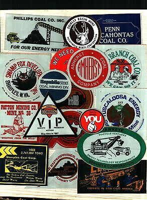 Over 50 Different Nice Coal Co. Coal Mining Stickers # 199