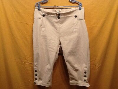 Knee Breeches, Size 36 Natural - Rendezvous, Mountain Man, Colonial, Pirate