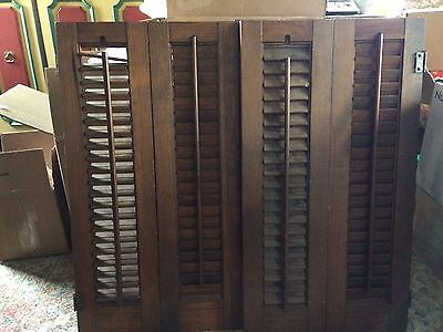 Vintage Wooden Shutters For Interior ea panel 7x26""