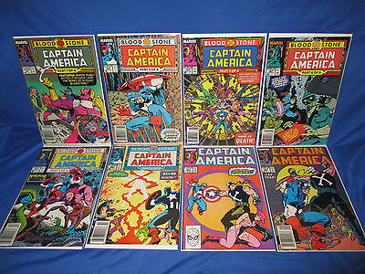 Captain America #357-364 1st Appearance / Key Crossbones Lot 359 360 Newsstand