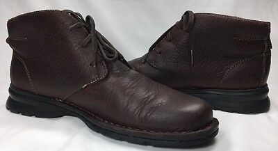 CLARKS Men's BROWN Leather Ankle Oxfords Lace Ups Casual Chukka Boots 11M US