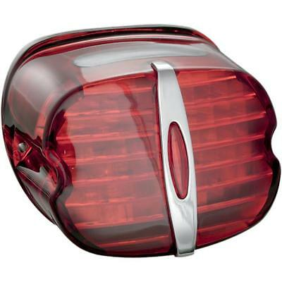 Kuryakyn 5420 Deluxe Panacea Taillight Lens with Tag Light Window Red