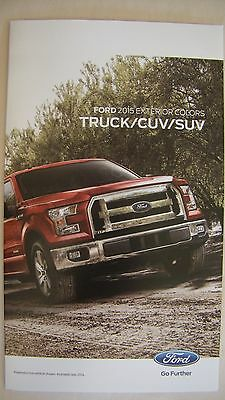 2015 Ford  Truck / Cuv / Suv Exterior Color Chart Brochure Pamplet