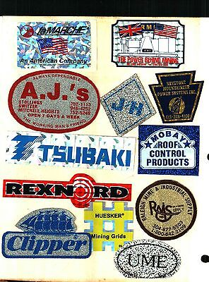 12 Different Really Nice Glitter Coal Mining Stickers # 202