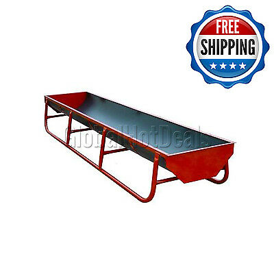 """Standard Bunk Square Ends 130"""" L x 34"""" W x 20"""" H Behlen Animal Troughs Feed Mill"""