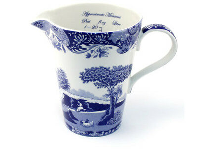 NEW Spode Blue Italian Measuring Jug 500ml