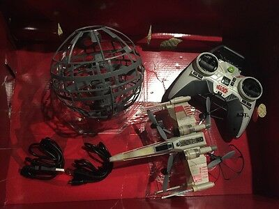 Air Hog Star Wars X-Wing Vs Death Star Drone FOR PARTS Remote Chargers Propellor