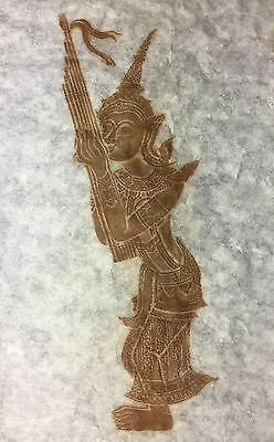 THAI TEMPLE RUBBING on rice paper - never displayed or framed - as-new condition