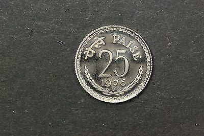 Republic India 1976 Bombay 25 Paise Original Proof Cameo Rare Only 4200 minted