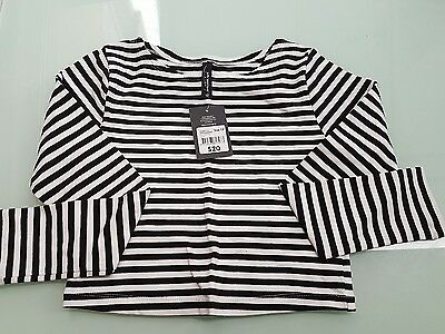 Girls  Peter Morrisey long sleeve striped top - size 12