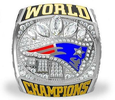 High Quality 2016 2017 New England Patriots World Championship Ring Fan Gift