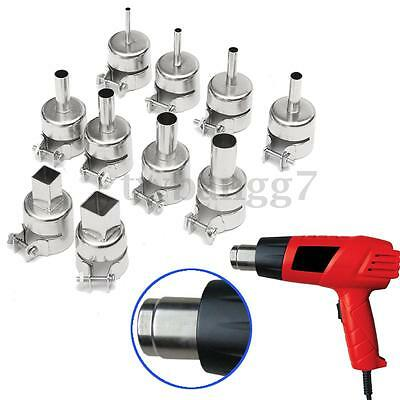 10pcs Heat Gun Hot Air Nozzles Gun Solder Kit For 850 Hot Air Soldering Station