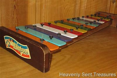 Vintage Real Wood COLOR XYLOPHONE 15 Note Estate Toy 19 Inch Musical Instrument