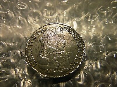 Bolivia 1830 Four (4) Soles Silver Coin   ON SALE NOW ONLY $23.99