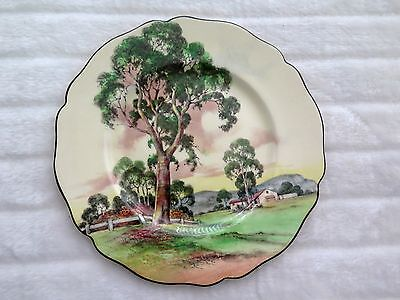 "Royal Doulton Series Ware Rack Plate ""Gum Trees A"" D5506 26.5cms. Australiana."