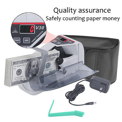 Handy Bill Cash Count Portable Mini Money Currency Counter Machine LED Display