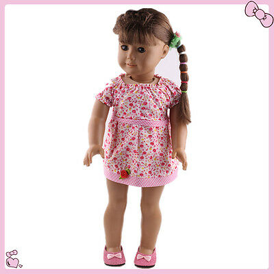 2016 Handmade fashion clothes dress for 18inch American girl doll b720