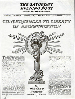 1934 Herbert Hoover Article--Regimentation-Illustrated by JC Leyendecker--z 611