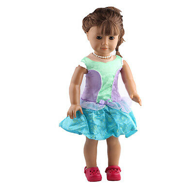 2017 gift DIY new set clothes for 18inch American girl doll party b416