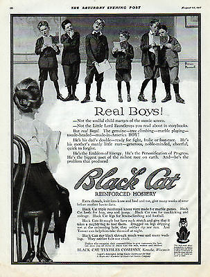 1917 Norman Rockwell Illustrates for Black Cat Hosiery ad -clothes -School-[-728