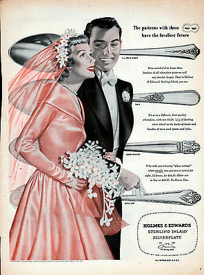 1950 Holmes & Edwards Flatware ad, Silverware ad Silverplate ad -p-520