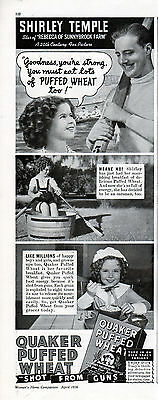 1938 Quaker Puffed Wheat Endorsed by Shirley Temple --=660