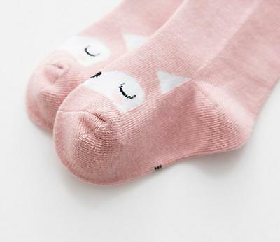 Baby Kids Girls Cute Cartoon Cotton Knee High Long Socks Stockings Tights New