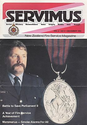 New Zealand Fire Service Magazine 'Servimus' - December 1992