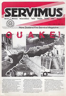New Zealand Fire Service Magazine 'Servimus' - May 1987