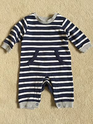 M&S Baby Boys Navy And White Striped all in one, 0-3 Months