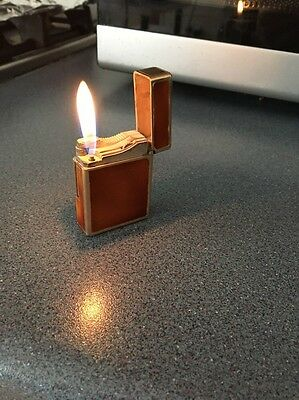 Vintage St Dupont Lacquer And Gold Plated Chinese Signed Lighter