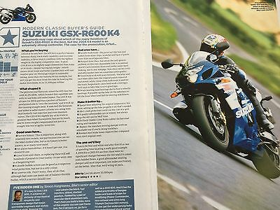 Suzuki Gsx-R600 K4 # 2 Page Original Motorcycle Article