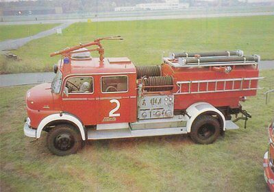 A German Fire Service Postcard Showing a Mercedes LAF