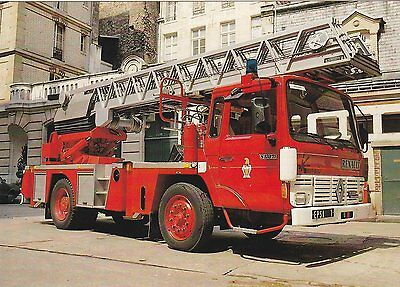 A French Renault TL Fire Service Postcard